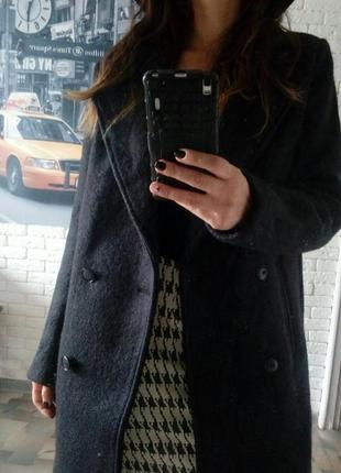 Классное черное теплое пальто от tomtailor.новое, с биркой! oversize
