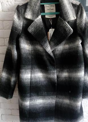 Трендовое пальто в клетку от tom tailor.новое с биркой! oversize