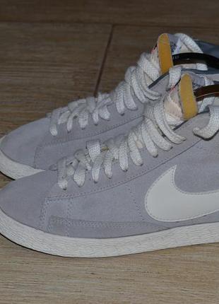 Nike blazer 36/5р высокие кроссовки замша. оригинал сникерсы
