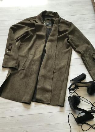 Замшевый пиджак блейзер кардиган пальто