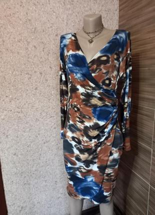 Идеальное принтованное платье из вискозы