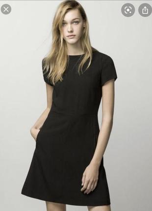 Распродажа 🔥 базовое чёрное платье massimo dutti, маленькое чёрное платье