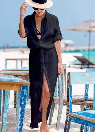 Женские пляжные длинные рубашки туники