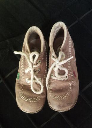 Кожаные бредовые ботинки от kickers (6032)