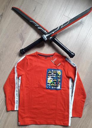 Реглан красный нинзяго. свитер 134-140. лонгслив. джемпер.