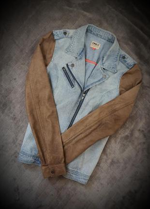 Стильний джинсовий піджак-жакет