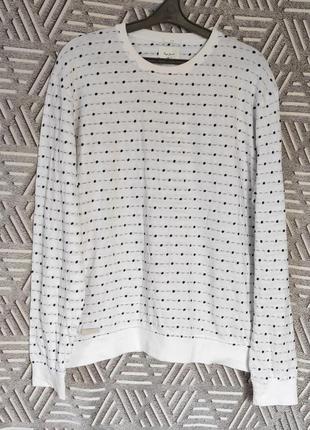 Белый свитерок, лонгслив l