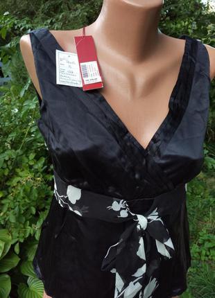 Элегантная шелковая блуза британского бренда monsoon серийная модель+🎁