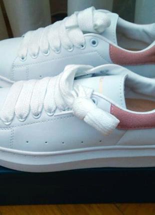 Женские модные и красивые белые кожаные кроссовки р.39 (стелька 25 см)
