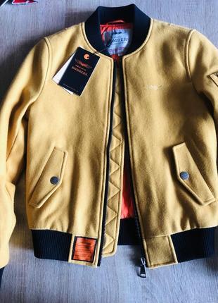 Шерстяная куртка бомбер bombers original размер s куртка короткая