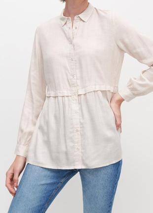 Базовая рубашка из вискозы reserved вискозная блуза xs