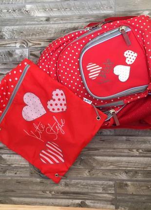 2 в 1 школьный рюкзак и сумка