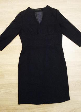 Черное деловое платье monton