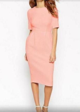 Распродажа! платье миди из фактурной ткани