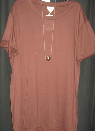 Удлиненная футболка с шелком и хлопком из подиумной коллекции h&m studio