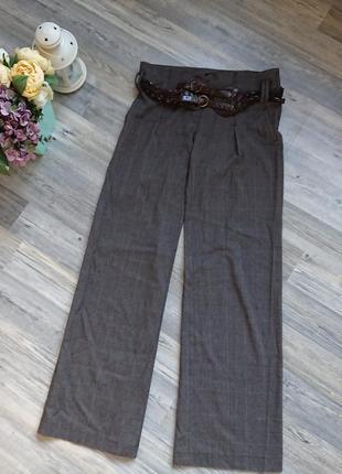 Шикарные широкие брюки с поясом р.m/l