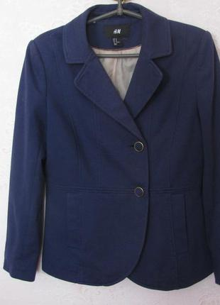 Женский пиджак синего цвета