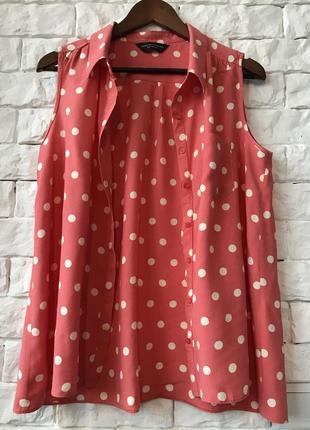 Блуза безрукавка в горох
