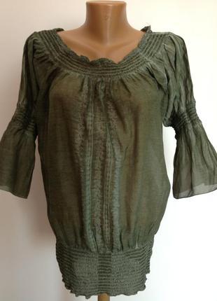 Шикарная фирменная блуза- туника. xxl/ brend dept