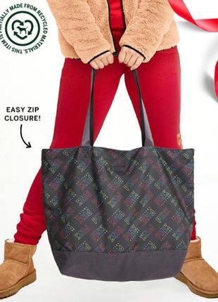 Стильная сумка шоппер на замке victoria's victorias victoria secret pink