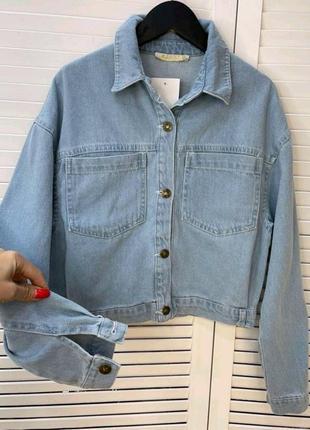 Джинсовий піджак куртка женская турция