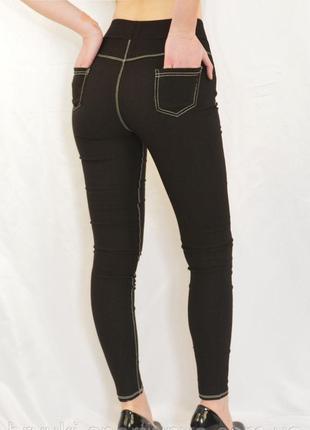 Джеггинсы женские  стрейчевые под джинс kenalin3 фото