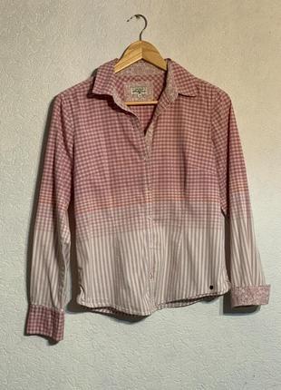 Рубашка tom tailor блуза в клетку классика