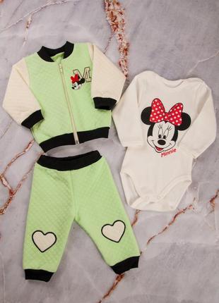 Тройка комплект набор костюм ясельный детский для малышей