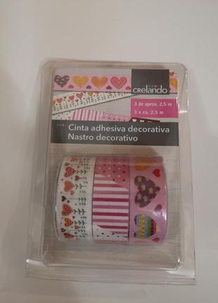 Декоративный бумажный скотч лента для упаковки подарков и декора упаковочная лента