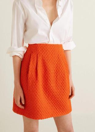 Mango мини юбка спідниця актуальная трендовая