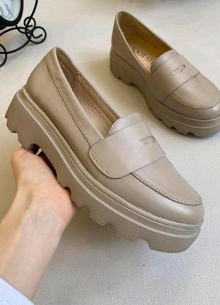 Туфли из натуральной кожи на платформе