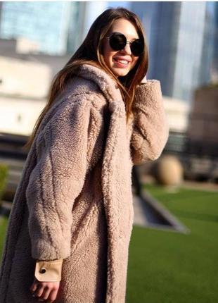 Пальто шубка  - плюшевое