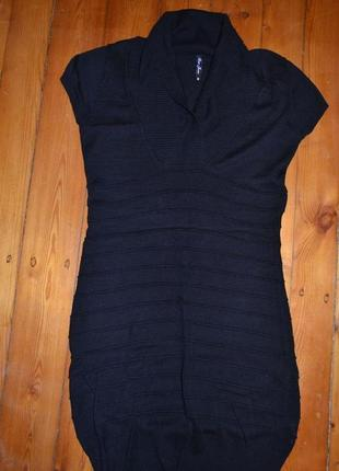 Супер платье черное трикотажное размер м