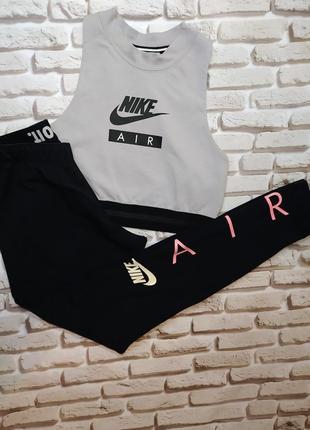 Nike air лосины  леггинсы спортивные трикотажные