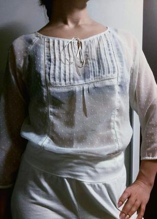 Блузка рубашка шифон yessica