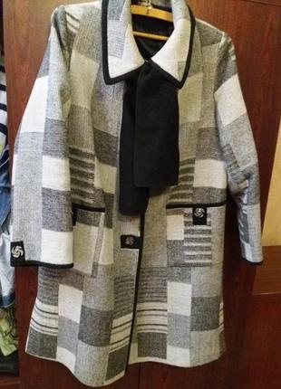 Пальто демисезонное, пальто весна-осень xl размера