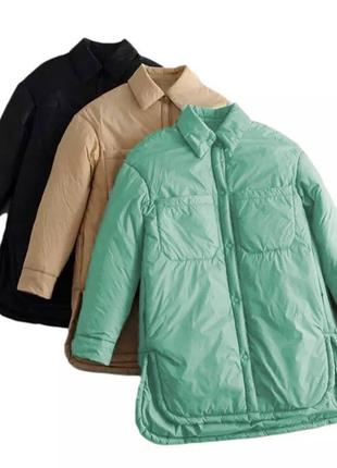 Куртка-рубашка в стиле zara , размерный ряд норма, батал( от 42 по 60 р-р)