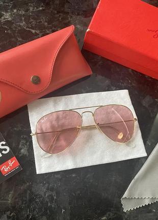 Очки солнцезащитные ray ban aviator оригинал