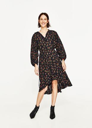 Платье рубашка в цветочный принт от zara.