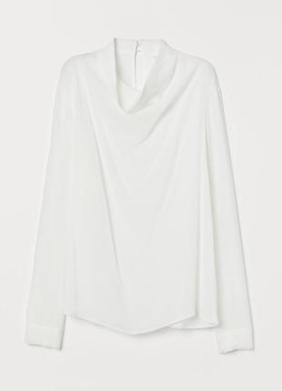 Блуза h&m 40 белая 7828740dm