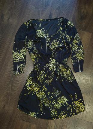Платье с карманами и молниями