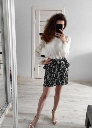 Topshop красивая юбка по фигуре с принтом