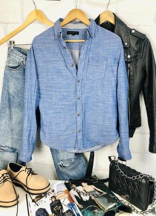 Рубашка хлопковая под джинс
