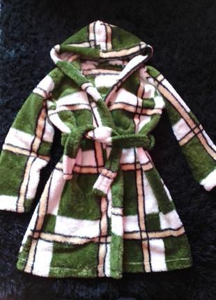 Плюшевый халат махровый мягенький