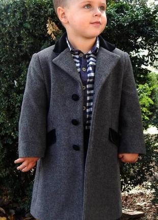 """Шерстяное  итальянское  серое пальто """" colorichiari"""" на мальчика 4 года"""