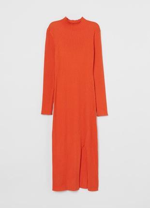 Платье вязаное h&m l оранжевый 7962390wt