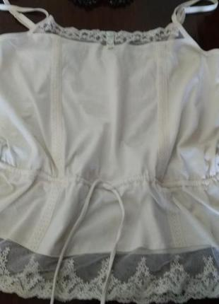 Майка блуза з кружевами  tu