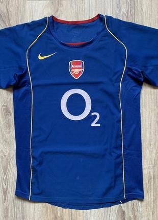 Мужская винтажная футбольная джерси nike youth away shirt arsenal 2004/05