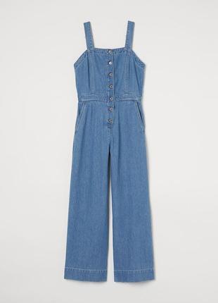Комбинезон джинсовый h&m 38 голубой 8233301dm