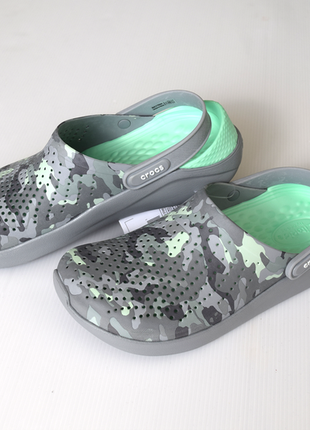 Cабо crocs literide™ printed camo clog оригинал!
